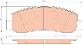 169 Pack TRW Automotive TPC1333 Black Premium Disc Brake Pad