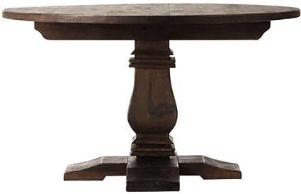 Amazon Com Aldridge Round Dining Table 31 Hx53 Wx53 D Antique