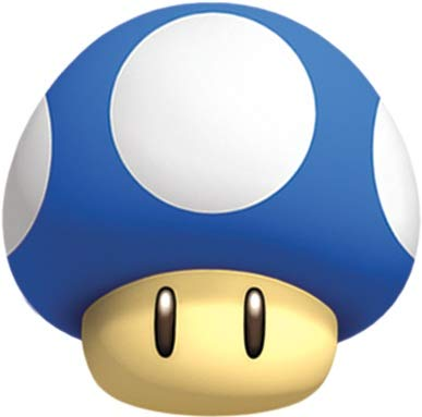 (Nintendo 1 Inch Blue Mini Mushroom Decal Super Mario Bros. Wii Brothers Removable Peel Self Stick Wall Sticker Art Home Decor (Decoration for Walls Laptop Yeti Tumbler) 3 by 3 inch)