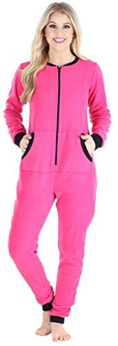 Sleepyheads Women's Fleece Non-Footed Solid Color Onesie Pajamas Jumpsuit (SH1018-4025B-2X)