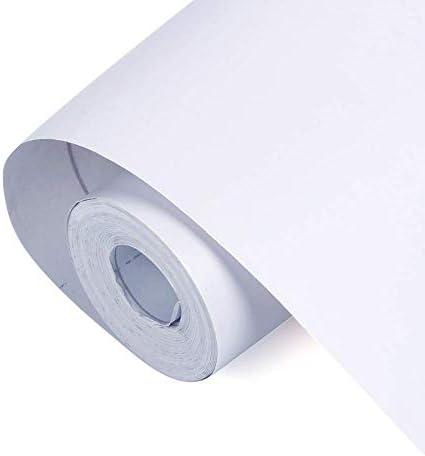 壁紙シール 白 リメイク シート はがせるシール 家具 壁 キッチン 浴室 テーブル リフォーム 防汚 防カビ のり付き 45cm*10m 壁紙 ホワイト 家具リメイクシート 模様替え