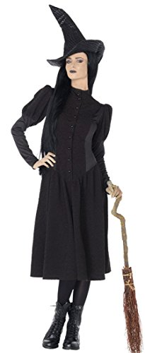 [Leg Avenue Women's Wicked 2 Piece Elphaba Witch Costume, Black, Medium] (Witch Costume For Adults)