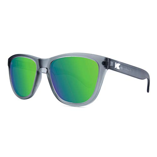 Star Sunglasses Polarized - Knockaround Premiums Polarized Sunglasses With Translucent Grey Frames/Green Reflective Lenses