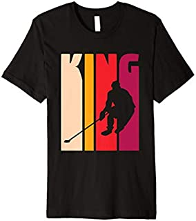 [Featured] Gift for Hockey Player Coach Fan 'Hockey King' Retro Hockey Premium in ALL styles | Size S - 5XL