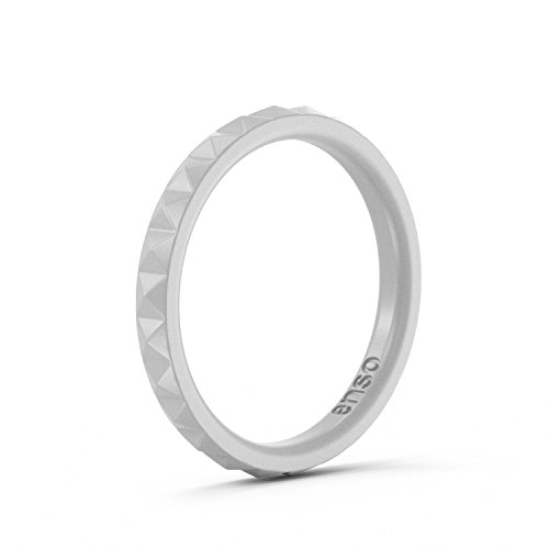 Enso Womens Stackable Silicone Rings Misty Grey. Size: 8