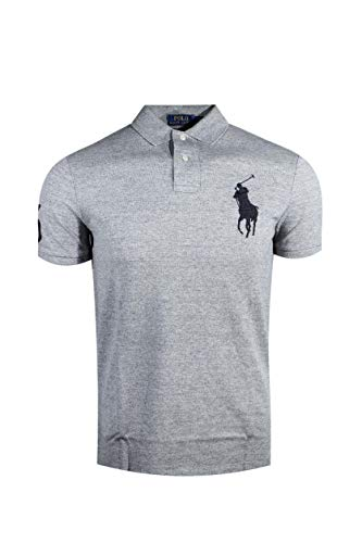 Polo Ralph Lauren Mens Custom Slim Fit Big Pony Logo Polo Shirt