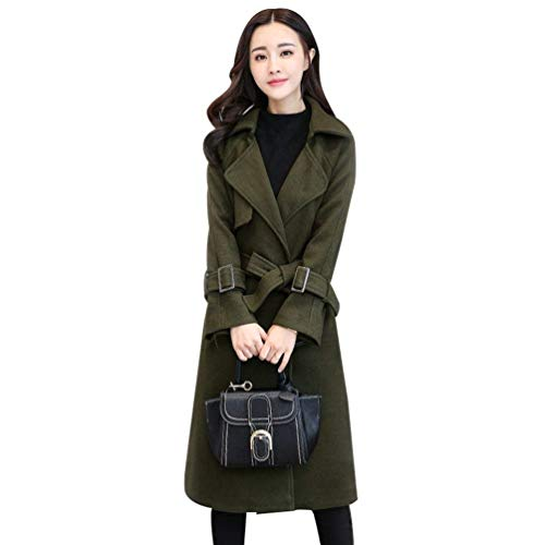 Automne Trench Huixin Chaud Hiver Classiques Manteau Femme Loisir Parka Young Vent Mince Longues Coupe Styles Grn Zweireihiger Coat lgant Jacket xtSFw1S