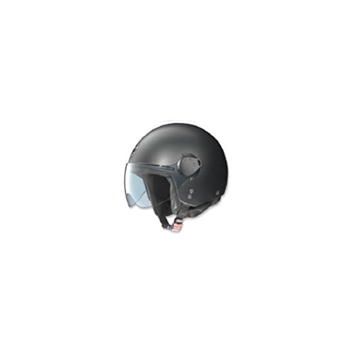 Nolan N20 Outlaw Flat Black Open Face Motorcycle Helmet - Large