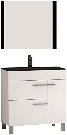 Eviva EVVN521-32WH Cup 31.5″ White Modern Bathroom Vanity Integrated Porcelain Sink Combination