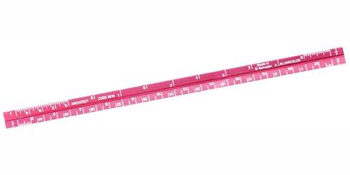 Alumicolor 3000 Series 6-Inch Red Mini Aluminum Triangular Architect Scale (3010-4)