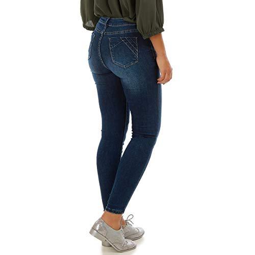 Slim Apparentes avec Effet surpiq Jeans res Bleu Push Modeuse Basique up La q0xfIE60