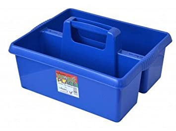 Wham, pratico contenitore portatutto in plastica colorata, per conservare e riporre prodotti e utensili di pulizia per la cucina, blu