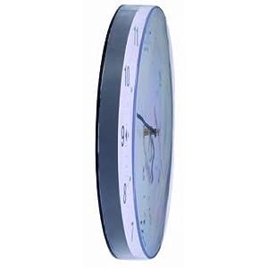 Alba Horclas, Reloj de Cuarzo Clásico de Pared, Plástico, Negro y Blanco, 25 cm 3