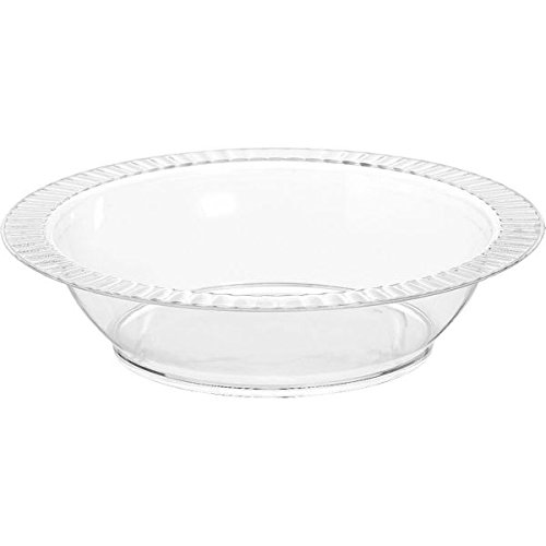 Amscan Lovely Premium Plastic Bowls & Reusable Dishware Clear 12 Oz Pack 24 Party Supplies , 288 Pieces by Amscan