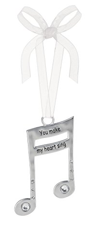 3 Inch Music Lover's Life Is Music Zinc Ornament - You Make My Heart ()