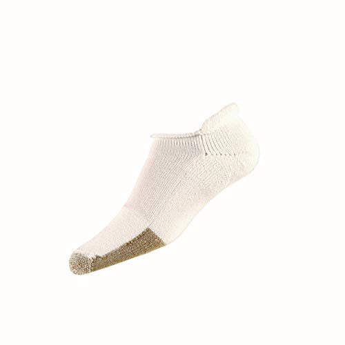 Thorlos Unisex T Tennis Thick Padded Rolltop Sock, White, Large