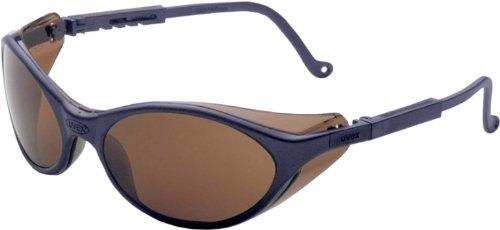 Uvex S1623X Bandit Safety Eyewear, Slate Blue Frame, Espresso UV Extreme Anti-Fog Lens