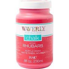 Waverly Inspirations Chalk Paint, Rhubarb, 8 oz