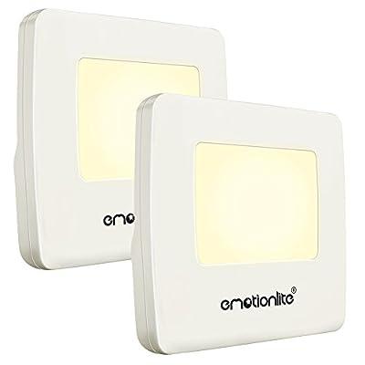 Plug in Night Light, Emotionlite LED Nightlights,Ultra Slim, Dusk to Dawn Sensor, for Kids, Adult, Bedroom, Hallway, Bathroom,Kitchen, Stairways, Corridor,Warm White, UL Listed, 4 Pack