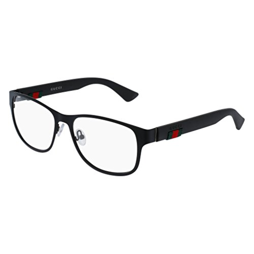 Gucci GG 0013O 001 Black Metal Square Eyeglasses - Frames Men Gucci