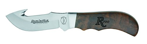 Remington Cutlery R19982 Heritage Line Model 700 Series Big Game Guthook Knife with Leather Sheath, 7 1/2-Inch
