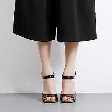 LvYuan Tacón Robusto-Confort Innovador Gladiador Zapatos del club-Sandalias-Boda Exterior Oficina y Trabajo Deporte Fiesta y Noche Vestido Black