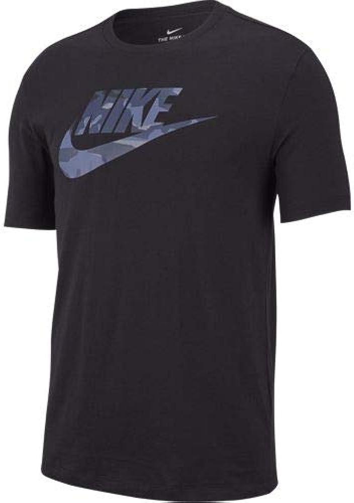 NIKE M NSW tee Camo 1 Camiseta, Hombre, Black/Midnight Navy, L ...