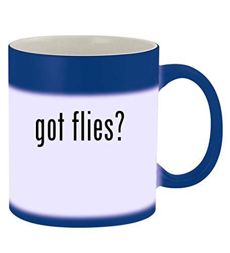 got flies? - 11oz Magic Color Changing Mug, Blue