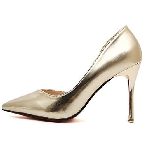 Seraph Alti Scarpe Talloni 7988 Spillo Donne B Appuntito Shoes Court A Vestito Tacchi Party Gold Pompe 00rRqfwx