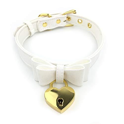 Intimate Lover Upgraded Padlock Bell Choker Collar Necklace Lolita Bow Collar...