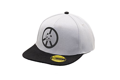 Panda Ajustable Urbano Peace Bordado Hat Plana Grey y con Original of Visera Black Unisex Snapback Gorra Cap Logotipo 5q5ar