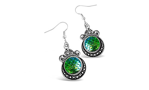 Rosa Vila Classic Mermaid Earrings - Multiple Color Options (Green) - Mermaid Dangle