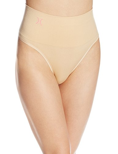 Yummie by Heather Thomson Women's Jasmina Seamlessly Shaped Everyday Shaping Thong, Nude, Large/X-Large