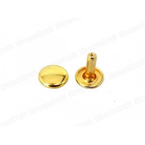 Golden Medium Double Cap Rivets (Pack of 100 Pc)