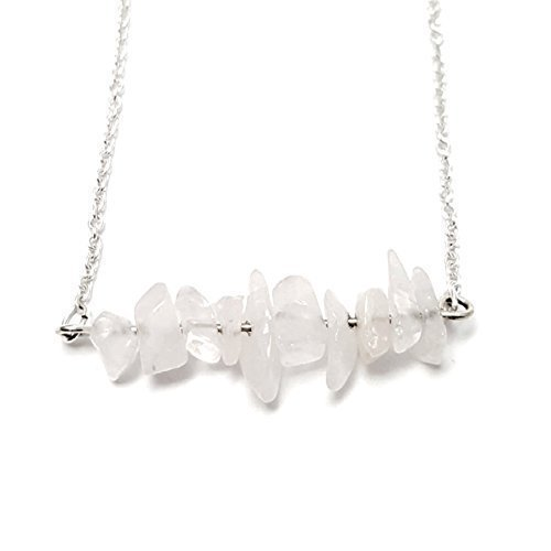raw-quartz-chip-bar-925-silver-plated-chain-necklace
