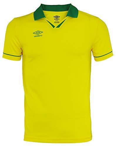 Umbro Mens Johnny Collar Ss Jersey Cyber Yellow/Verdant Green Size -