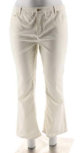 Liz Claiborne NY Hepburn Colored Bootcut Jeans 5 Pckts Cream 10P # -