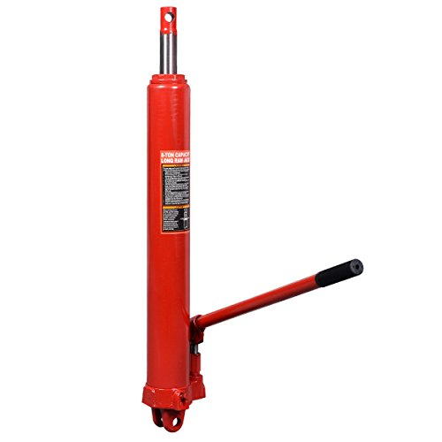 New 8 Ton Long Manual Hydraulic Ram Jack Engine Lift Hoist Cherry (Durable Manual Hoist)