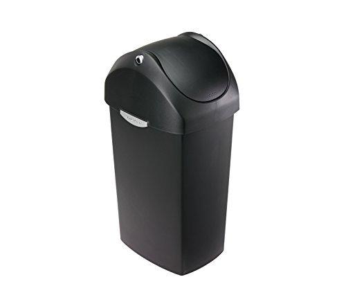 simplehuman 40L-Liter / 10.5-Gallon Swing Can, Black Plastic