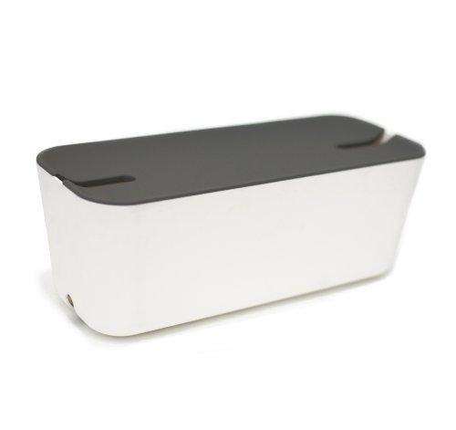 Kabelbox Ikea bosign kabelbox cable organizer hideaway xl weiß dunkelgrau box