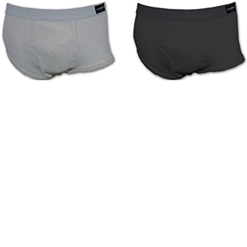 - Andrew Scott Men's 2 Pack Big Man Classic Brief (2X-Large 46-48, Black/Grey)