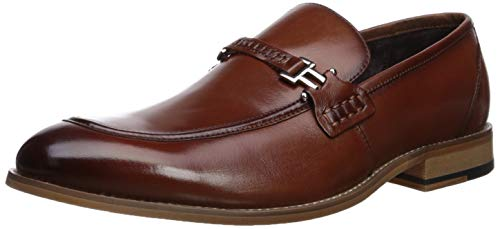 (Stacy Adams Men's Duval Moc-Toe Slip-On Penny Loafer, Cognac 13 W)