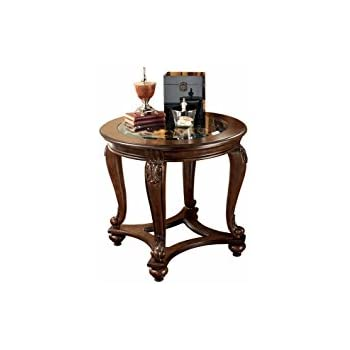 Exceptionnel Ashley Furniture Signature Design   Norcastle End Table   Traditional  Vintage Style   Round   Dark