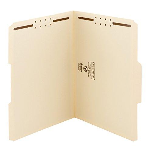 (Smead Fastener File Folder, 2 Fasteners, Reinforced 1/3-Cut Tab, Letter Size, Manila, 50 per Box (14537))
