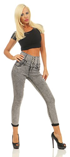 Jeans Gris Femme Fashion4Young Jeans Fashion4Young qHYP0