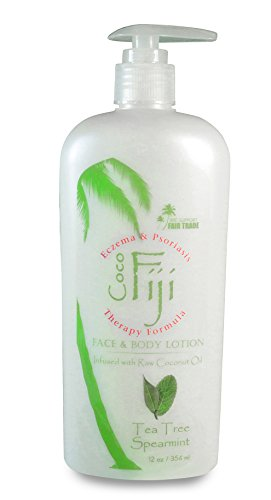 - Coco Fiji, Coconut Oil Infused Face & Body Lotion, Tea Tree Spearmint 12oz