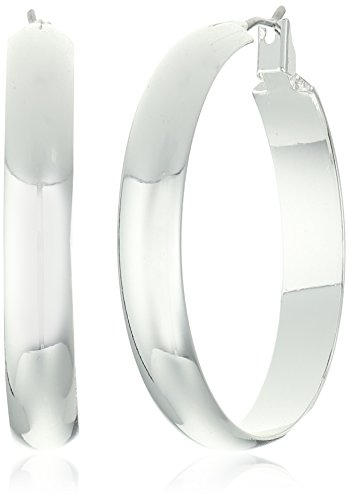 Band Silver Tone Earrings (Napier Silver-Tone Wide Band Clicktop Hoop Earrings)