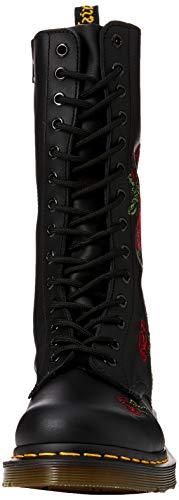 Stivali 12761001 VONDA Black Dr Black Embroidery Schwarz donna Nero Martens ZIZp5X