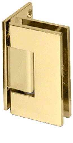 C.R. LAURENCE GEN044BR CRL Brass Geneva 044 Series Wall Mount Offset Back Plate Hinge Brass Offset Pivot Set