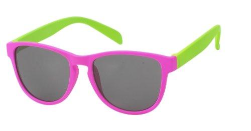 unisexe Wayfarer Gris lunettes rose 400UV de de teintées green nerd Chic Lunettes bicolore style Paire Net soleil Lunettes de ZnAI4q